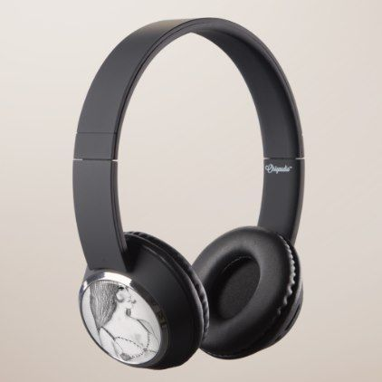 Retro 70s Girl in Bikini Top Headphones - summer gifts season diy template ideas