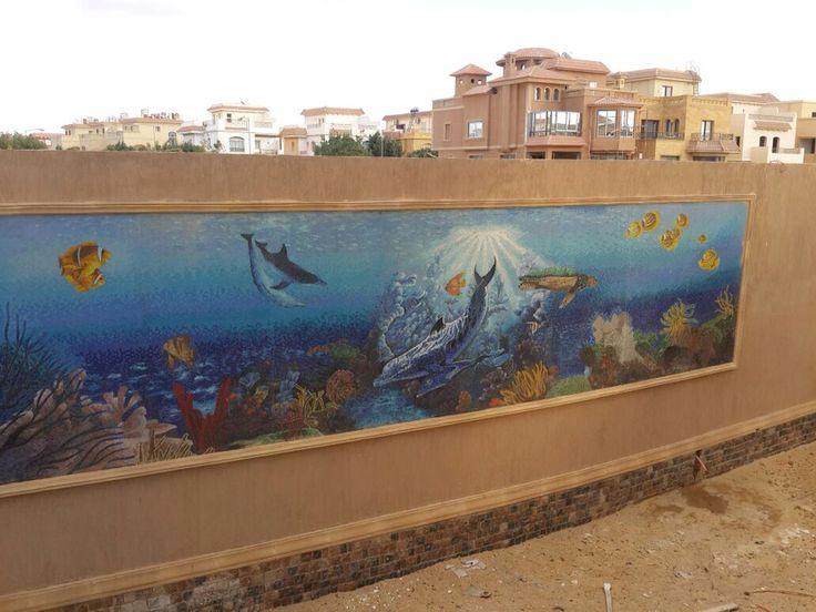 Aquarium mosaic