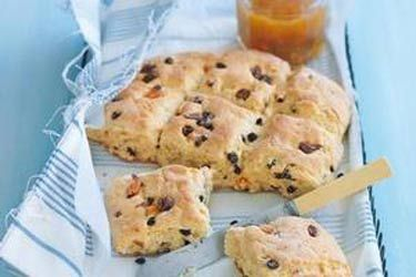 Mixed fruit scones