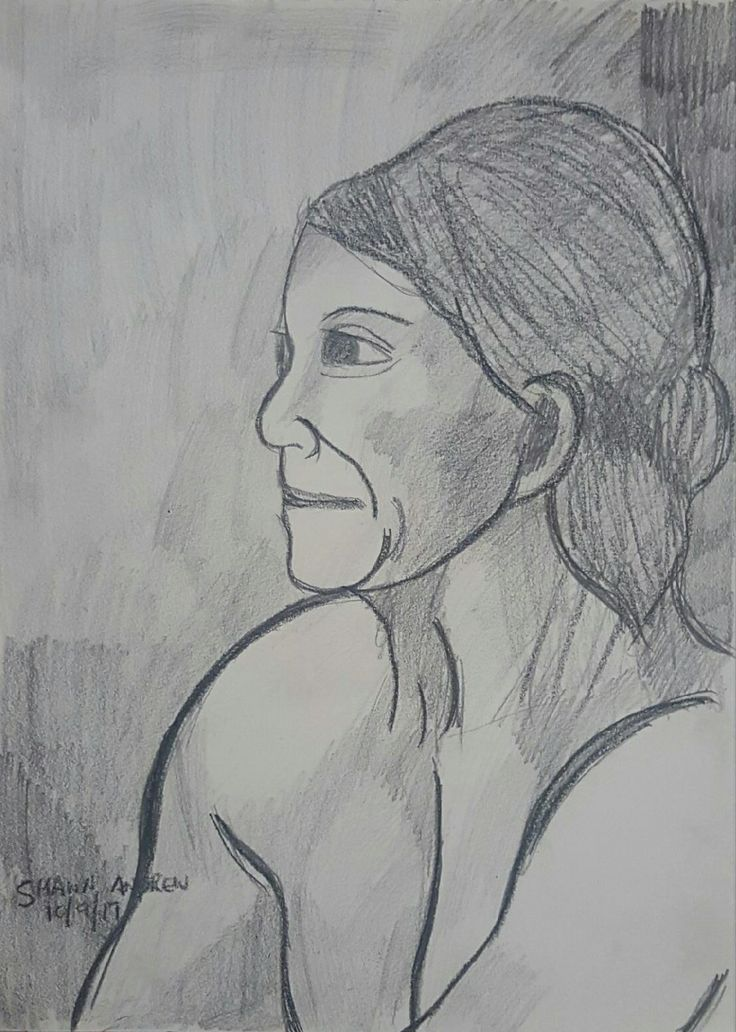 Figure drawing at Newtown, Sydney, Australia - 10/9/17 - Lumocolor pencil and lead pencil on paper - #ShawnAndrewArtist  #Art  #Drawing  #ShawnAndrew_Artist