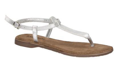 Lazamani 75.422 zilveren platte sandaal