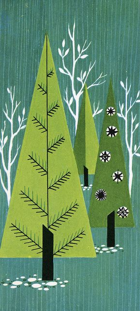 Trees Christmas illustration