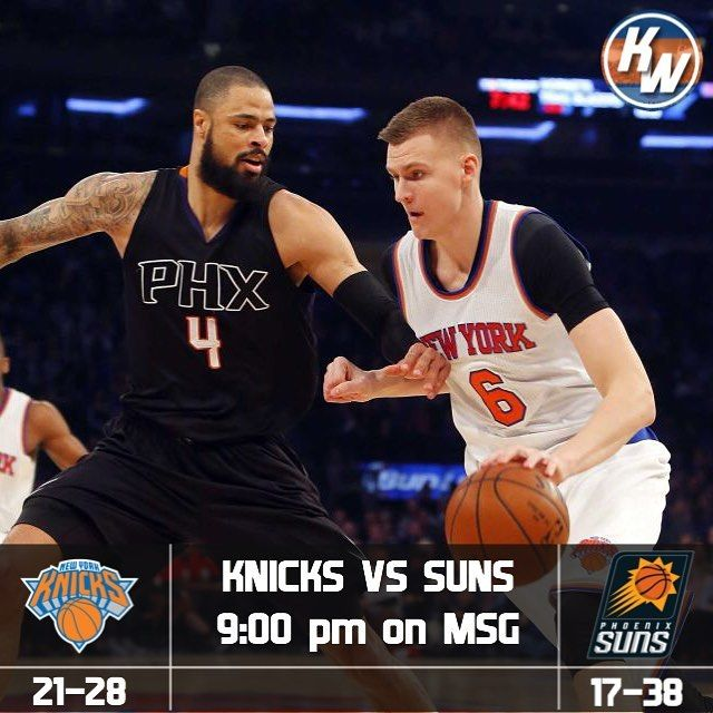 KNICKS GAMEDAY  The 21-28 Knicks look to take on the 17-38 suns. Here is the info for tonights game  MSG FSAZ  ESPN NY 98.7 FM  9:00 pm (EST)  Talking Stick Resort Arena See you for tonights game! - - FOLLOW @nyknicksway FOR MORE - #Knicks #Knicksway #KP #Porzingis #Hardaway #Knickstape #Lee #Jack #Starting5 #Kanter #Doug #McDermott #McBuckets #Beasley #Hernangomez #FrenchPrince #ntilikina #Sessions #Kuz #Thomas #ESPN #TNT #NBA #Sixers #Raptors #Celtics #Nets #Hornaceck #Burke #tkwpregame…