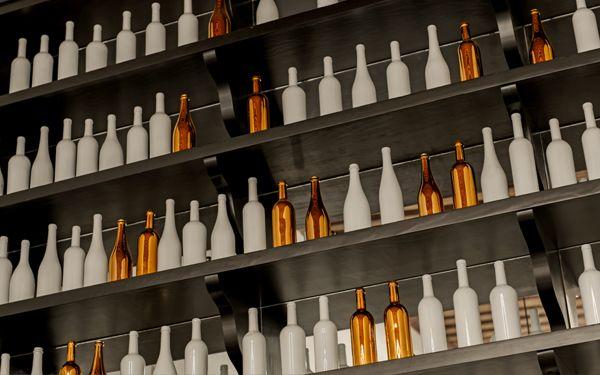 modern bottle display