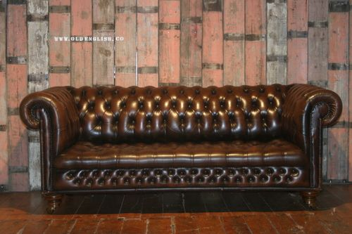 Lancaster Brown Chesterfield Sofa - Old English, Bawtry, UK - +44 (0)1302 714414