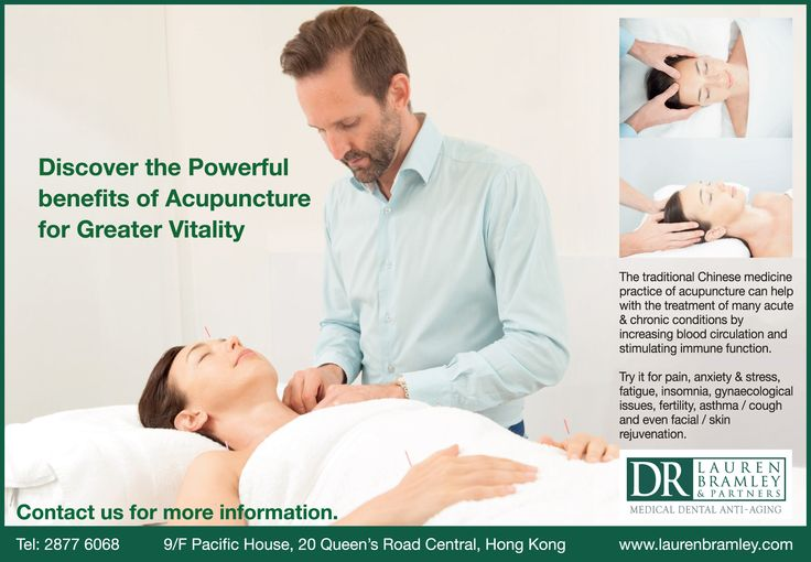 Discover the powerful benefits of Acupuncture for greater vitality @ Dr. Lauren Bramley & Partners, Hong Kong — www.laurenbramley.com/service/acupuncture/