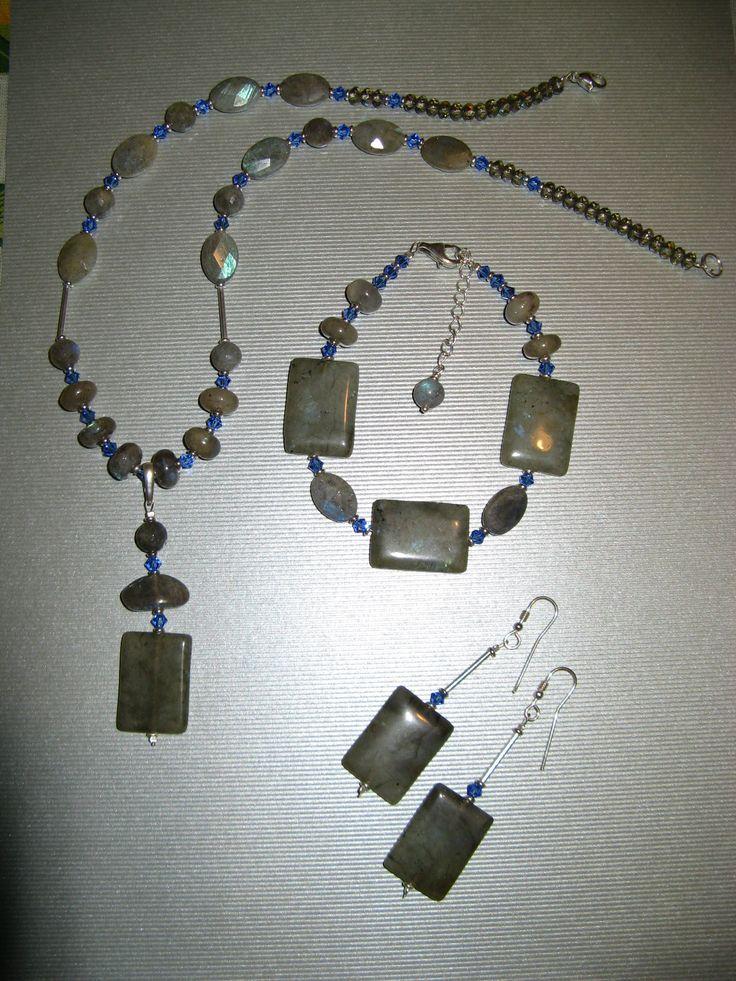 Labradorite and Swarovski crystal jewelry