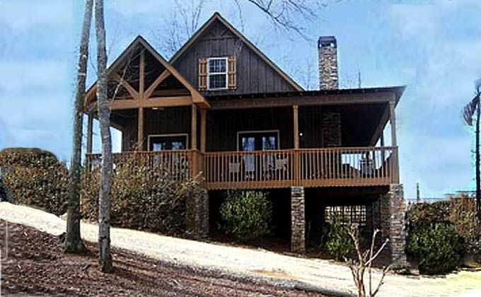 Cabin House Plans with photos & porches | Little River Cabin