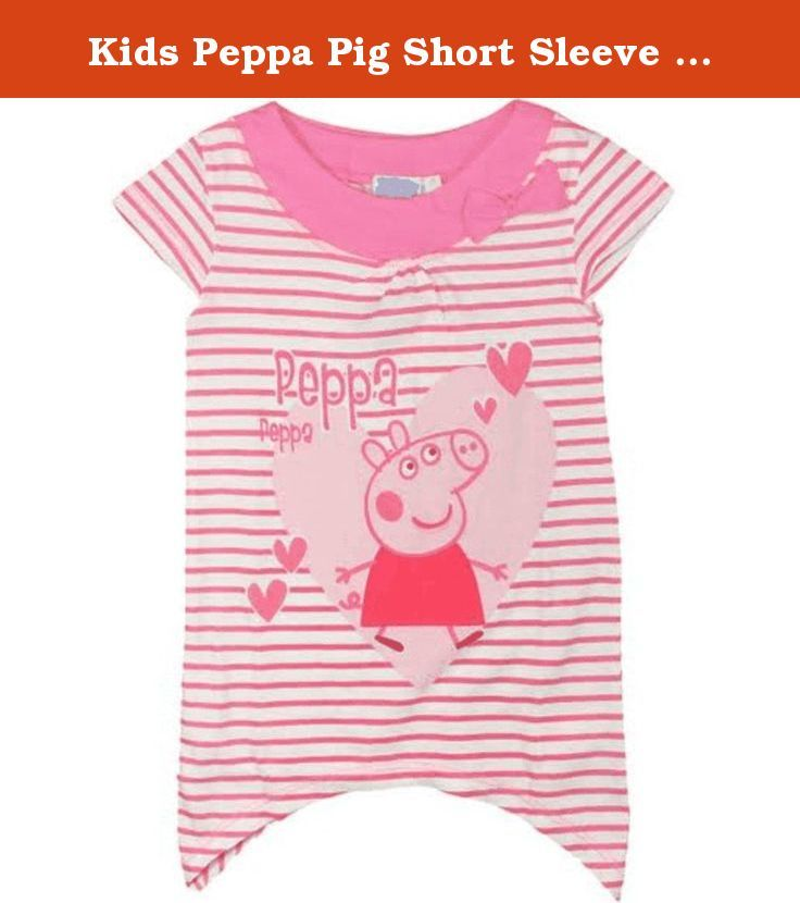 Kids Peppa Pig Short Sleeve T Shirt (18 to 24 Months(92 CM), Pink). An official licensed merchandise.
