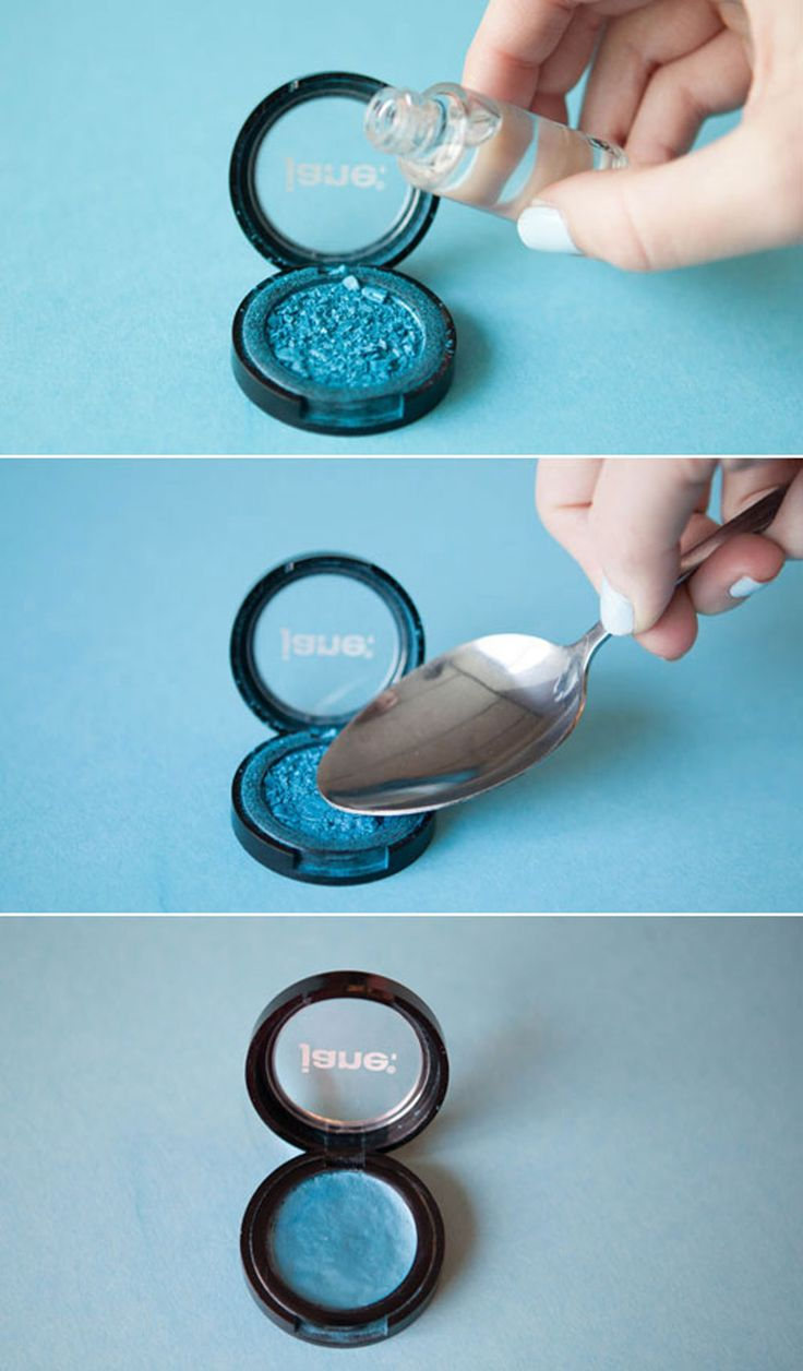 How to fix broken powder makeup with alcohol in four simple steps - 17 Genius Hacks For Saving Every Last Drop Of Your Beauty Products