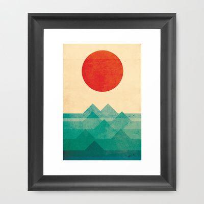 The+ocean,+the+sea,+the+wave+Framed+Art+Print+by+Budi+Satria+Kwan+-+$37.00