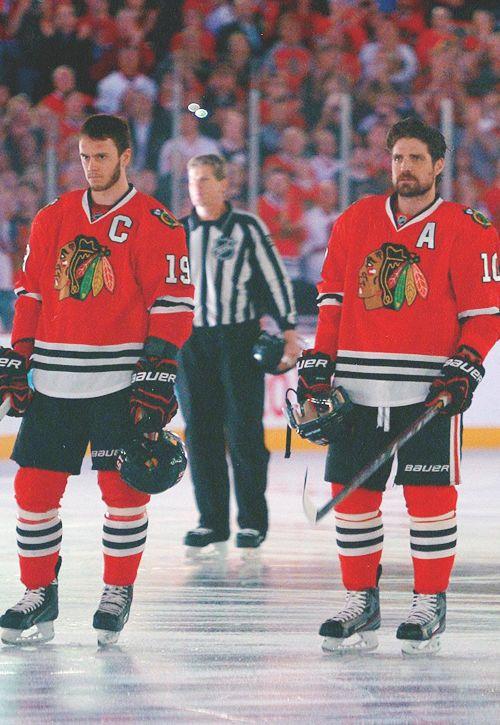 Jonathan Toews & Patrick Sharp Chicago Blackhawks