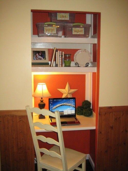 DIY Closet Desk As A Mini Home Office   Shelterness