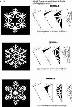 Copos de nieve para la navidad en papel ~ cositasconmesh