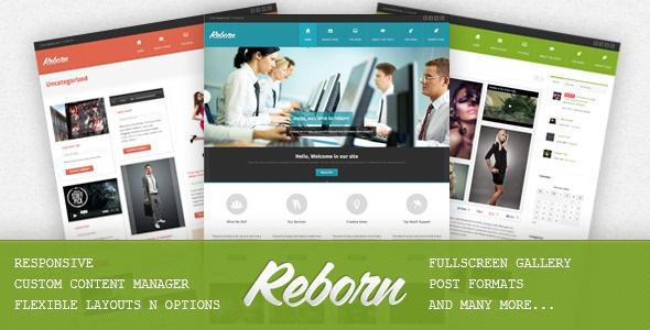 Reborn - Premium Multipurpose WP Theme - ThemeForest Item for Sale