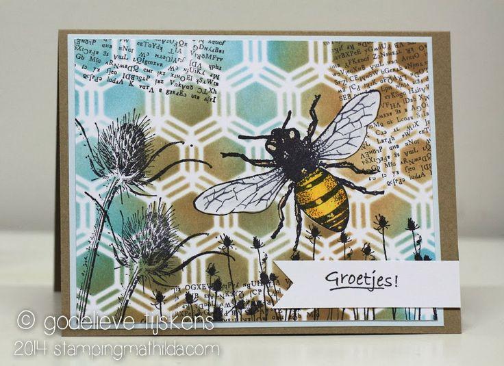 StampingMathilda: Art Journey - Honey Bee