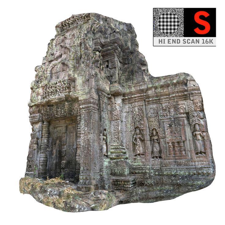 3d model angkor temple 16k