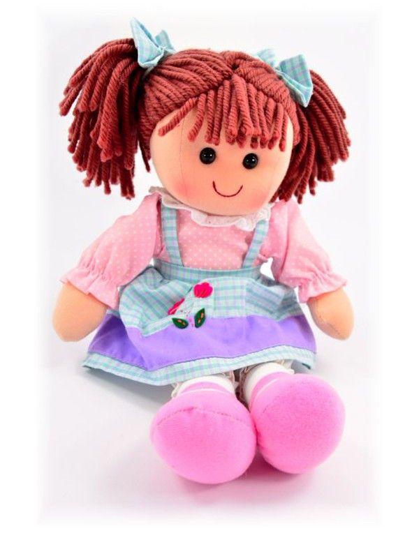 Muñeca de trapo Waldorf Lina azul y rosa - 35 cm. - Mod. VII