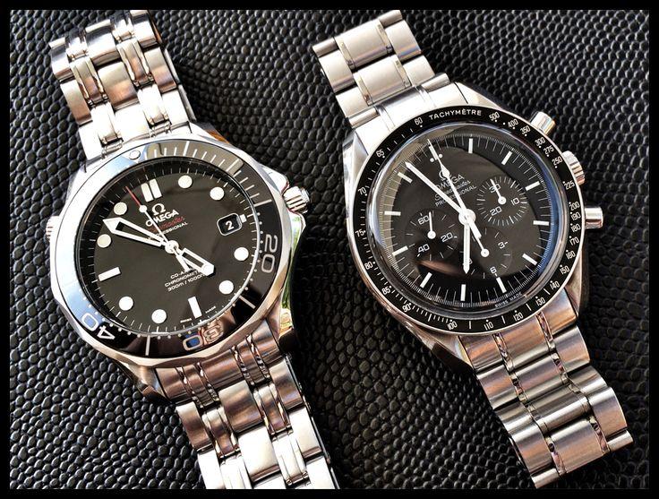 Omega Seamaster Diver 300m & Speedmaster Moonwatch