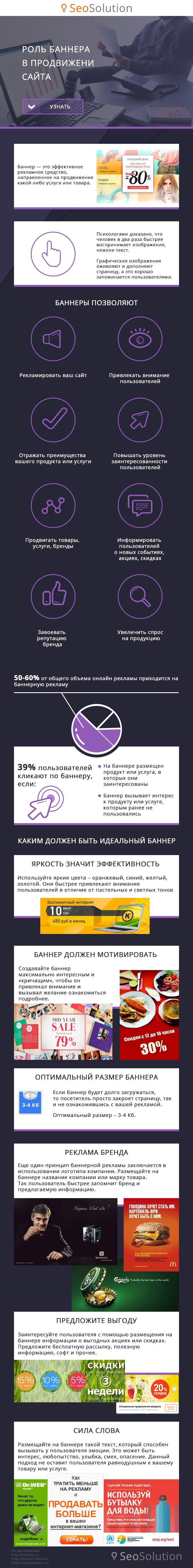 Привлечение внимания пользователей с помощью баннера #инфографика #banner #advertising