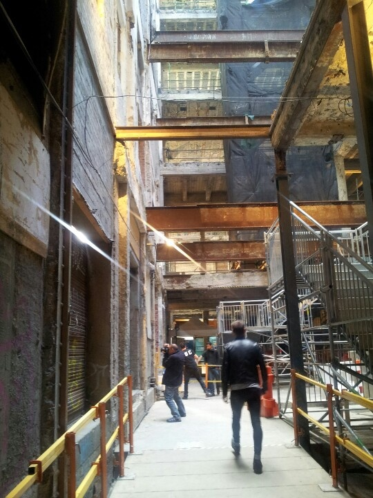 """just a peek into the Argus Building Melbourne - this was """"rescued"""" for the Melbourne Music Festival for 2012, and though still unused and almost derelict, its was an awesome utilisation of an under appreciated space."""
