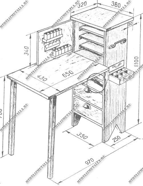Схема верстака столяра и слесаря