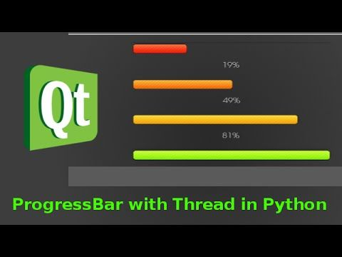 PyQt Progress bar with Thread - YouTube | Rigging and