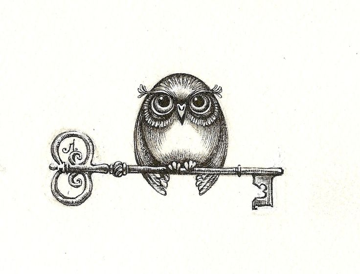 Perhaps one day if my son has tattoos, he could get his own owl tattoo with the key to his mother's heart. The head of the key should be in the shape of a crown though!!