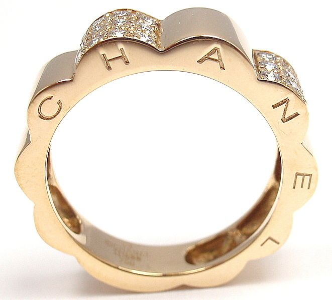 CHANEL | Diamond Yellow Gold Band Ring | {ʝυℓιє'ѕ đιåмσиđѕ&ρєåɾℓѕ}