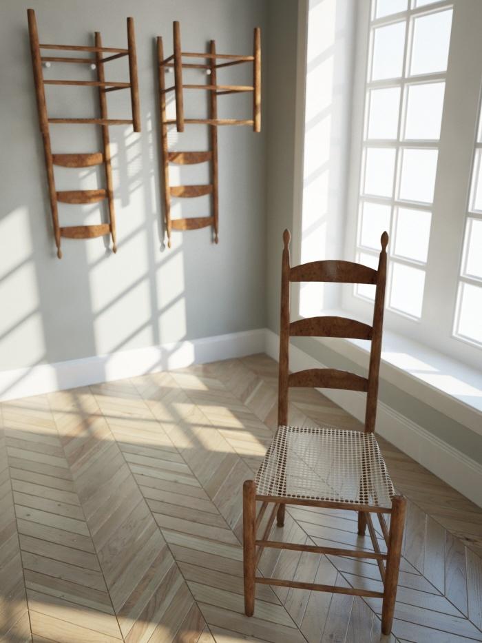 Classic shaker storage chairs style shaker meuble de style rangement - Meuble shaker ...