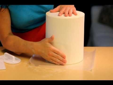 How to get RAZOR sharp edges on your fondant cakes - Part 2 of 2 THIS is freaking brilliant!: