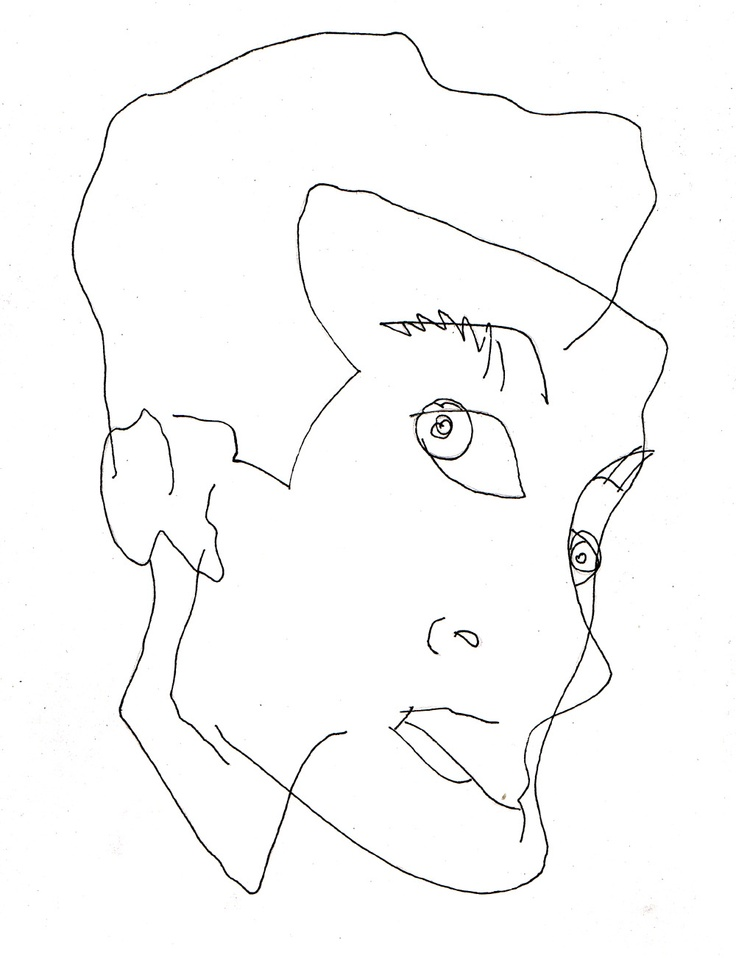 Blind Contour Line Drawing Face : Best images about wire faces on pinterest sculpture