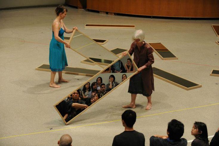 Joan Jonas, Mirror Piece, 1969 (reconfigured 2010) at the Guggenheim.