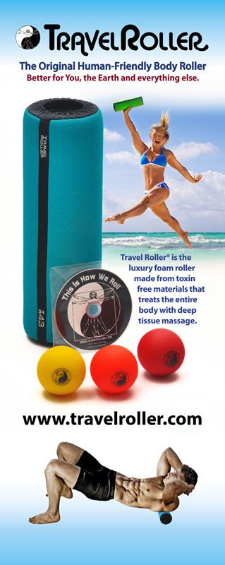 The best way to recover from hard training is with myofascial release.  I use the Travel Roller wherever I go when I'm competing in bike races, and when I am preparing at home.