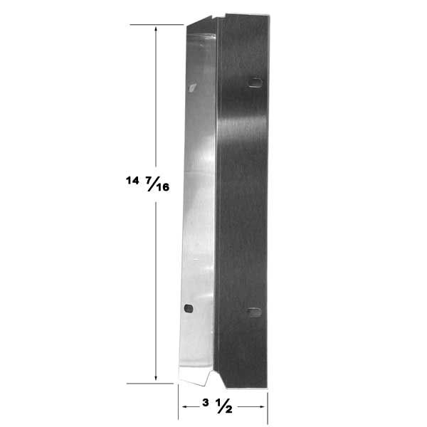 STAINLESS STEEL HEAT SHIELD MASTER COOK, SHINERICH, TERA GEAR, OUTDOOR GOURMET GAS GRILL MODELS Fits Compatible Master Cook Models : SRGG30001B