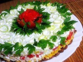 Подборка лучших рецептов салатов-тортов, которые всегда украсят Ваш праздничный стол !