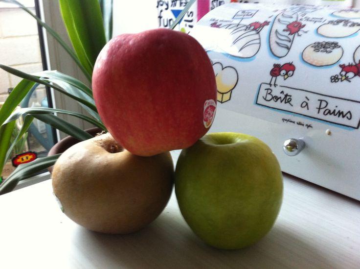 Trio de pommes + jus d'orange