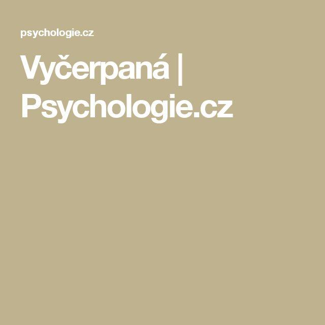 Vyčerpaná | Psychologie.cz