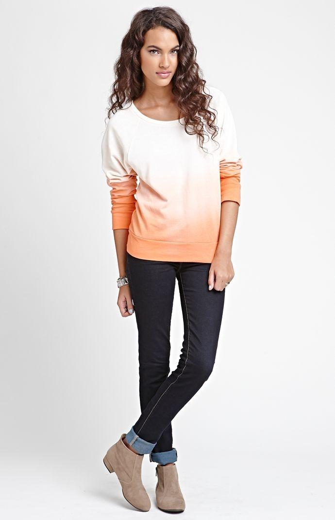 Kirra Dip Dye Studded Crew Neck Fleece #Kirra #PacSun