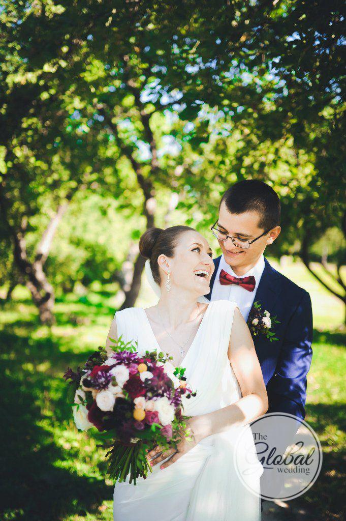 Just married  Wedding bouquet Молодожены Букет невесты