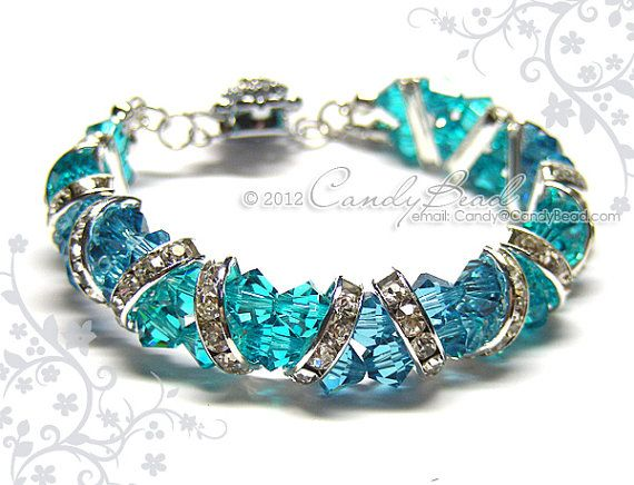 Hey, I found this really awesome Etsy listing at https://www.etsy.com/uk/listing/89620832/swarovski-bracelet-gorgeous-silver-teal