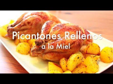 Pollos picantones rellenos al horno - Recetas de navidad - YouTube