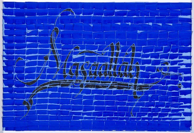 ARDAN ÖZMENOĞLU / MASAALLAH  Post-it Not Kağıtları Üzerine Karışık Teknik / Mixed Media on Post-it Notes, 82 x 56 cm, 2011.