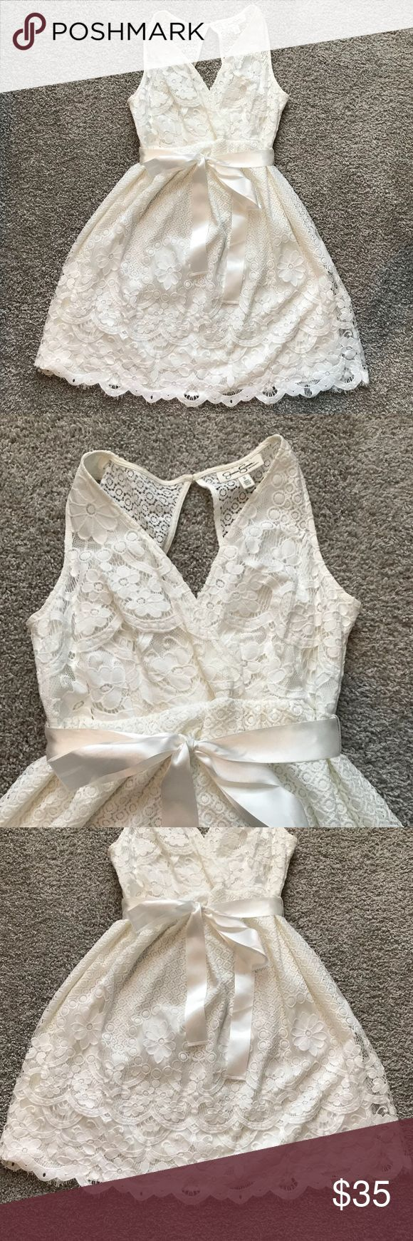 Jessica Simpson Maternity lace white dress Jessica Simpson Maternity lace white dress Jessica Simpson Dresses