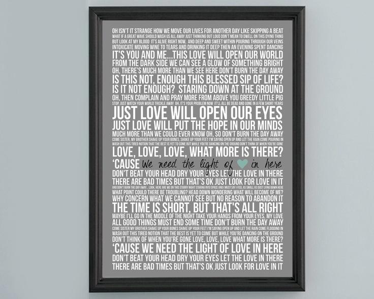 Song Lyric Poster - Pig by Dave Matthews Band - 20x30 | Dave matthews, Dave matthews band, Lyrics