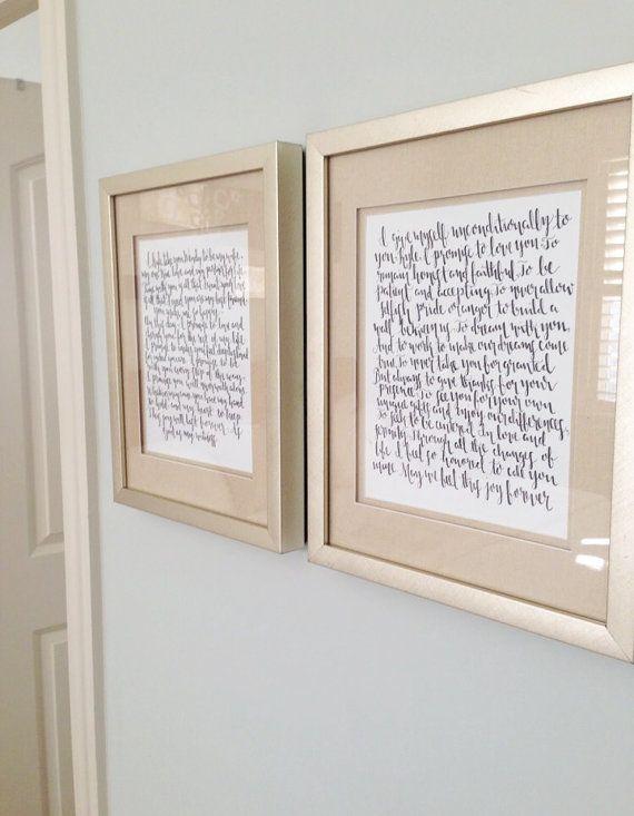 Wedding Vow Calligraphy | Home Sweet Home ♥ | Pinterest | Wedding ...