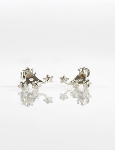 Tiny Star Ear Jacket Silver