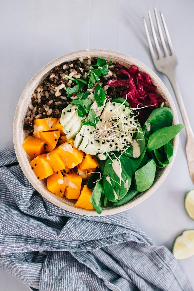 How to Make the Perfect Nourishing Meal Bowl | http://hellonatural.co/how-to-make-a-meal-bowl/