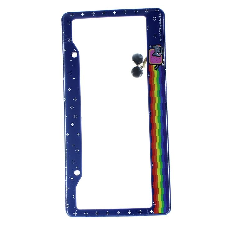 Just Funky Nyan Cat License Plate Covers, Multi-Colored