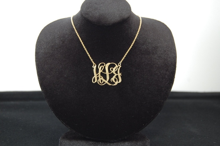 Monogram Necklace 125 Inch Personalized Silver by monoArtian, $74.0074 00, Monograms Necklaces, Necklaces 125, Personalized Silver, Necklaces 1 25, 1 25 Inch, 125 Inch, Beautiful Things, Inch Personalized